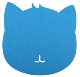 Muismat kat (blauw)