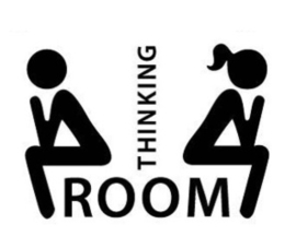 Thinking room sticker