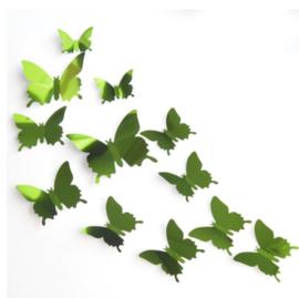Spiegel groen 3D-vlinders