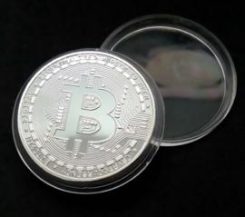 Bitcoin munt (zilver)