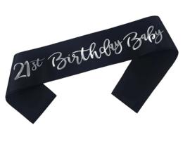 21st Birthday Baby sjerp (zwart)