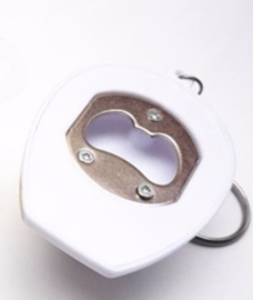 Bouwvakkershelm flesopener (wit)