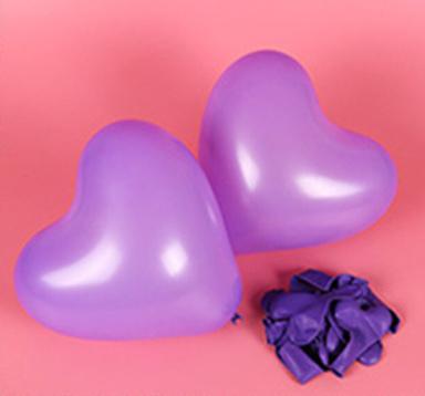 Hartjes ballonnen paars (10 stuks)