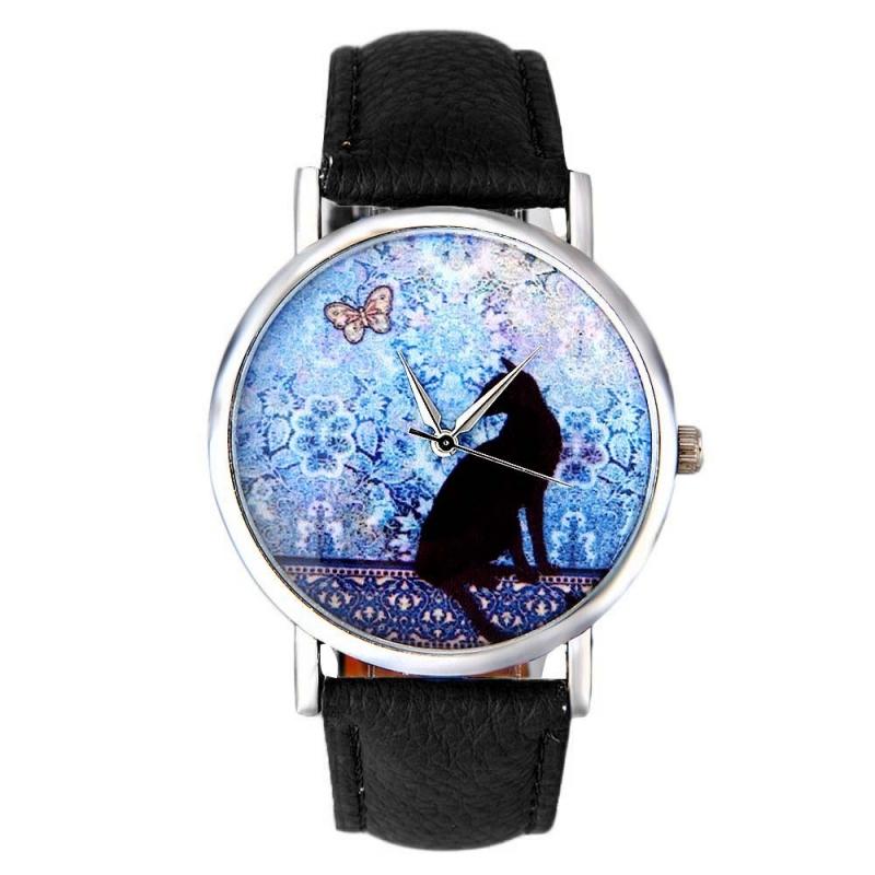 Horloge black cat