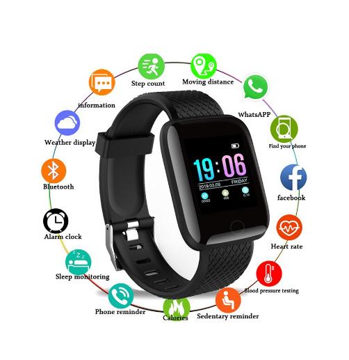 Smart horloge zwart