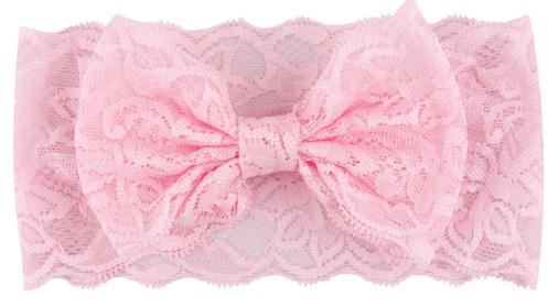 Kanten hoofdband (roze)