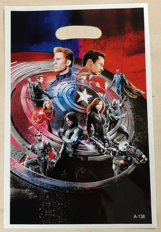 Captain America traktatie zakjes (10 stuks)