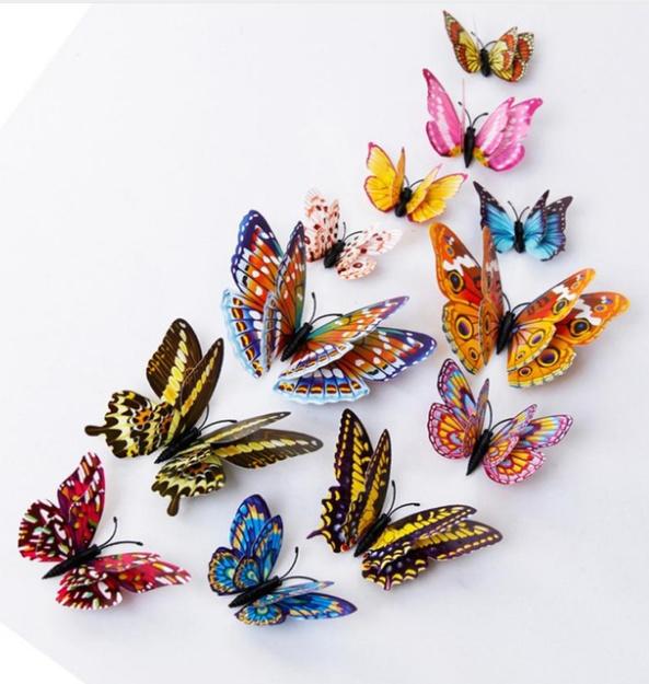 Glow in the dark 3D-vlinders