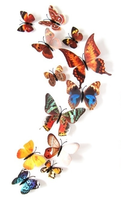 Herfst 3D-vlinders