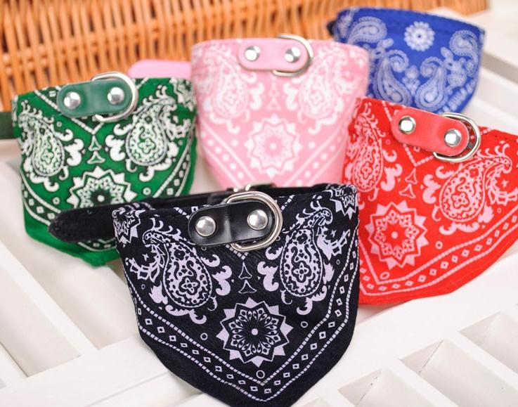 Bandana halsband voor huisdieren (roze)