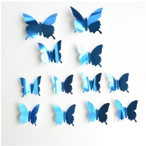 Spiegel blauw 3D-vlinders