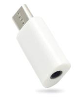 USB type-C naar 3,5mm jack adapter (wit)