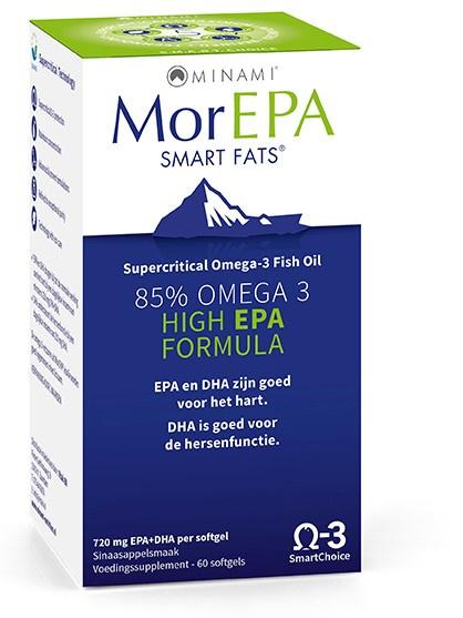 Visoliesupplementen Omega 3 MorEPA 60 capsules