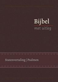 Bijbel met uitleg KLEIN 140 x198 mm, Flexibele band in cassette, goudsnede, bruin