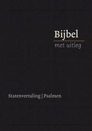 Bijbel met uitleg KLEIN 140 x198 mm, Flexibele band in cassette, goudsnede, zwart
