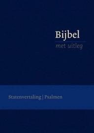 Bijbel met uitleg KLEIN 140 x198 mm, Flexibele band in cassette, goudsnede, blauw