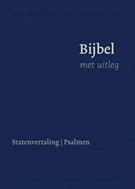 Bijbel met uitleg KLEIN 140 x 198 mm, harde band, blauw, in cassette