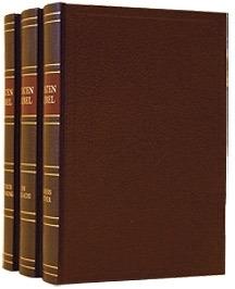 STATENBIJBEL met kanttekeningen in 3 delen - bruin