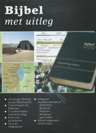 Bijbel met uitleg MIDDEL 170x240 mm, flexibele band in luxe doos, goudsnede, zwart