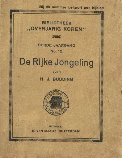 BUDDING, H.J. - De Rijke Jongeling (BOK)