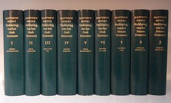 HENRY, Matthew - Verklaring van de Bijbel - 9 delen - met gratis atlas