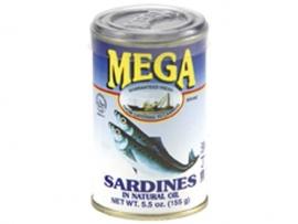 Sardines in Oil / Mega / 155 gram