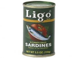 Sardines in tomatosauce / Ligo / 155 gram