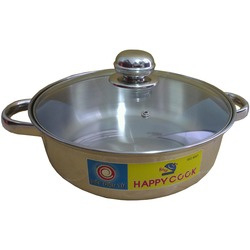 Pan with glass lid / Happy Cook / 26 cm