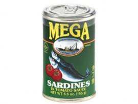 Sardines in Tomato Sauce / Mega / 155 gram