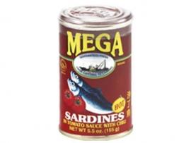 Sardines in tomato sauce (hot) / Mega / 155 gram