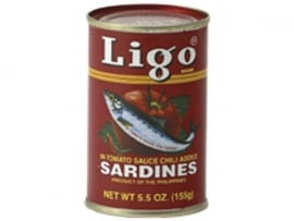 Sardines in tomato sauce (hot) / Ligo / 155 gram