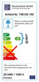 Waterdicht (IP66) LED armatuur  25W (1x36W TL), L. 1185 mm