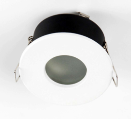Waterdichte (IP65) badkamer spot GU10, mat wit aluminium