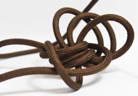 Textielsnoer 100 cm 2x0,75 mm², donker bruin