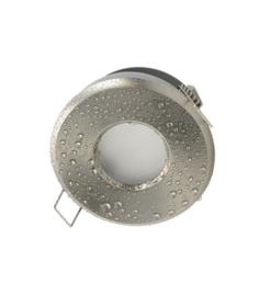 Waterdichte (IP65) badkamer spot GU10, geborsteld aluminium