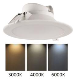 Sydney LED inbouwspot 10W, 3-kleuren instelbaar Ø 113 mm