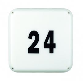 Vierkante buitenlamp met huisnummer set, inclusief spaarlampen