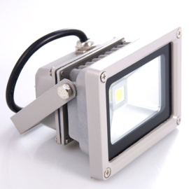 LED  wandstraler 10W grijs IP65 500 cm kabel met  randaarde stekker