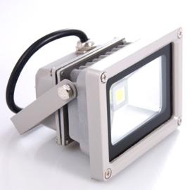 Waterdichte LED wandstraler 10W grijs 500 cm kabel met  RA stekker, 3000K warm wit licht