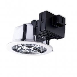 Downlighter 2x26W wit inclusief Philips PL-C lichtbronnen