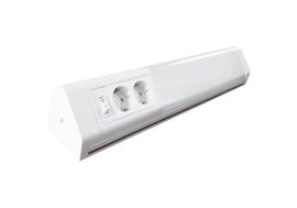 Op- en onderbouw LED wandlamp incl. dubbel stopcontact