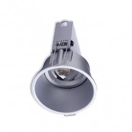 Luxe inbouwspot Cast max. 50W vast model, zilvergrijs