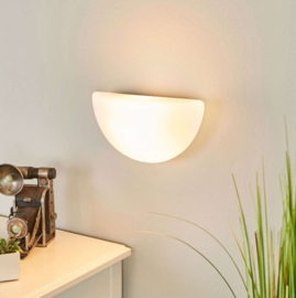Wandlamp opaal glas L.25 cm, incl. Philips Eco deluxe warm wit lamp
