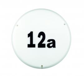 Ronde buitenlamp met huisnummer set, inclusief spaarlampen