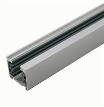 3-fase rail opbouw vierkant  zilvergrijs, 100cm