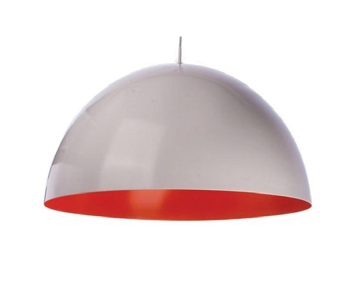 Hanglamp Experience Ø 530 mm, max. 3x100W, E27 wit/oranje inclusief opaal afschermplaat