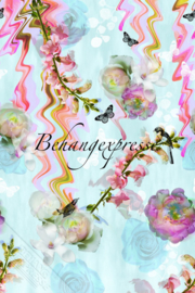 Behangexpresse COLORchoc Wallprint Floral Glitch INK 6054