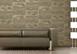 Vliesbehang stone-look beige