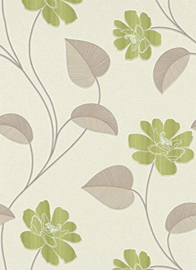 Bloemen Behang Groen 9660-07
