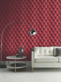 chesterfield 3d behang rood 618101